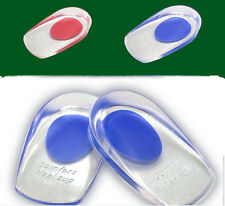 Gel Shoes Pads Cushion Heel Cup Insoles Massager Inserts Heel Pain Spur Silicone