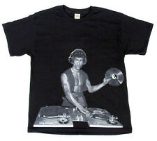 Adult Black Martial Arts Fighter and Instructor Bruce Lee DJ Music T-Shirt Tee