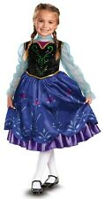 Anna Deluxe Disney Frozen Princess Blue Fancy Dress Up Halloween Child Costume