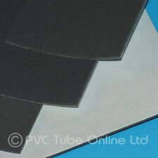 2mm Foam Sheet Sponge Rubber - Adhesive Backed Closed Cell - Charcoal Grey Black
