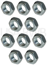PACK OF 10PCS - JAM NUTS - MULTIPLE SIZES - STEEL HEX LOCK NUTS - FREE SHIPPING!