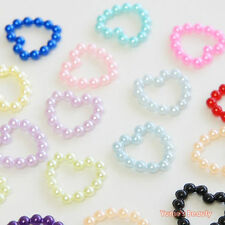 Multi-color Hollow Heart Shaped Half Pearl for Scrapbooking & Craft DIY
