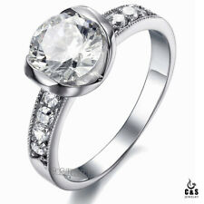 Titanium Steel With 1.5 Carat Crystal Purity Lady's Fashion Ring