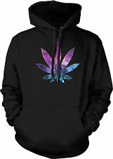Galaxy Pot Leaf Marijuana Legalize Neon Weed Intergalactic New Mens Sweatshirt