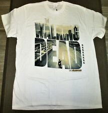 Men L XL 2XL The WALKING DEAD White POSTER T-SHIRT AMC Zombie TV Show Series NEW