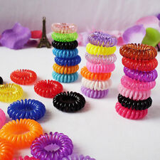 10Pcs Telephone Wire Band Head Hair Hand Elastic Cord Rubber Women Girl