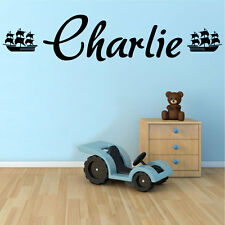 Ship with Any Personalised Name, Transfer, wall sticker, wall art, Kids Bedroom
