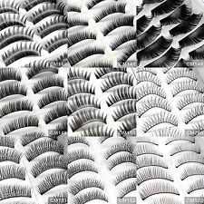 20 Pairs Handmade Thick Natural False Fake Eyelash Eye Lashes Black Brown