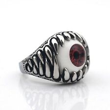 Men's Jewelry Punk Biker Cool Bling 316L Stainless Steel Claw Eye Ring