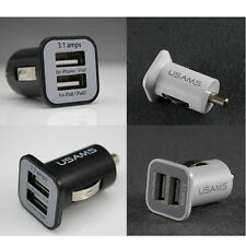 Dual USB Ports 3.1A IN Car Mobile Phone Charger Adapter For Smartphone Tablet