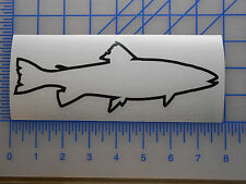 """Trout Outline Decal Sticker 5.5"""" 7.5"""" 11"""" Sea Spotted Rainbow Brook Inshore Fish"""