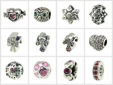 4.5mm hole-Silver charm bead with crystal mom owl cross Fit 3mm size Bracelets