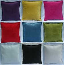 Cushion Covers Plain Chenille White Cream Red Black Lime fuchsia Teal Purple