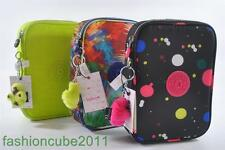 NWT KIPLING 100 PENS Pencil Case- Painterly Print, Blue Butterfly or Lime Punch
