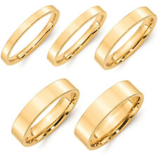 SOLID 18k WHITE YELLOW ROSE GOLD FLAT COMFORT FIT WEDDING BAND RING MENS WOMEN