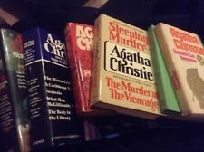 Agatha Christie mystery novels hardcover - some with DJ -some book club editions