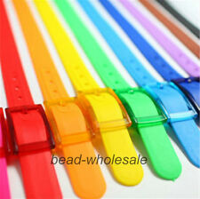 1x Candy Color Rubber Vinyl Plastic Jelly Silicone Casual AdjustableBelt Buckle