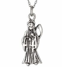 Sterling Silver .925 Santa Muerte Lady of the Holy Death Oxidized | Made in USA