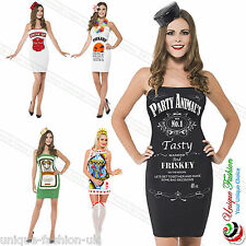 Ladies Womens Bodycon Tunic Hen Party Top Dress Outfit Poker Queen Jack Daniels