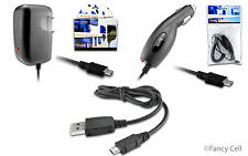 New Micro USB Battery Car + Wall Home + Cable Charger Combo for LG Cell Phones