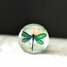 Hot!10X Dragonfly Glass Dome Cabochons Animal Tiles 10/12/14/16/18/20/25/30mm