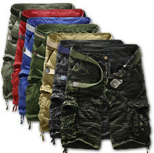Men's New Casual Combat Camo Sports Short Pants Camouflage Overall Cargo Shorts