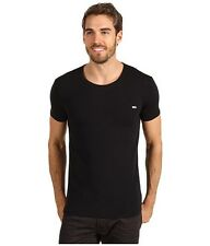 Diesel Randal Round Neck Stretch Cotton Black Fashion T-shirt Brand New with Tag