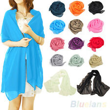 Beauty Long Scarves Simple Shawl Large Chiffon Feel Hip Wrap Neck Head Scarf