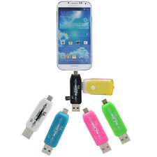 For Android Smart phone Table  PC TF Micro OTG smart Card Reader+2.0 USB Adapter