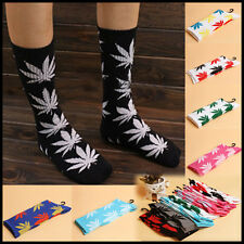 Unisex Mens Womens Marijuana Weed Plantlife Leaf Printed Ankle High Cotton Socks
