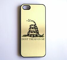"""DON""""T TREAD ON ME iPhone 5S/5C/5/4S/4 Case Gold Metallic Patriot Snake Dont"""