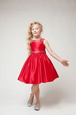 Little Girls Dressy Satin Special Occasion Dress
