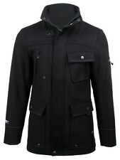 Mens 'Avalon' Wool Rich Military Style Jacket/ Coat By Dissident