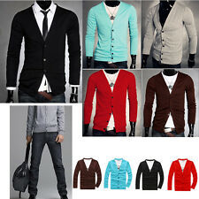 2014 Hot Sale Coat Mens Knitted V Neck Fit Slim Cardigan Knitwear New Jumper