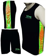 EVO Men Singlet Tank top Sports Shorts Running Basketball Soccer Football Gym We