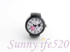 Lovely Cartoon Snoopy Men Women Lady Finger Ring Quartz Watch Stainless Band New