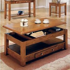 Logan Lift-Top Cocktail Coffee Table - Cherry or Oak - Free Shipping