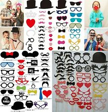 Party Masks Photo Booth Props Mustache On A Stick Wedding Party Favor USA STOCK
