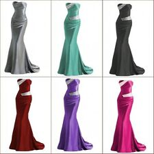 2014 Mermaid Evening Formal Party Ball Gown Prom Wedding Bridesmaid Dress 6-16