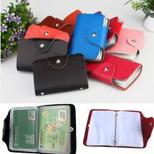 26 Slots Men Womens Genuine Leather Wallet ID Credit Cards Holder Business Case