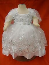 Baby Girl Christening Baptism Dress / 3 pcs Outfit/Size 00=0-3 Months