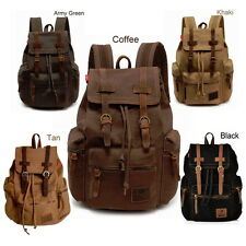 Retro Vintage Travel Canvas Backpack Sport Rucksack Satchel School Hiking Bag S9