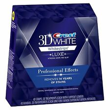 NEW Luxe CREST3D Professional Effects WhiteStrips Teeth Whitening SENT SAME DAY