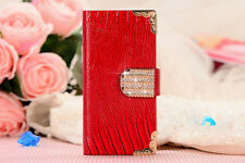 New Hot Crystal MAGNETIC DIAMOND WALLET LEATHER FLIP CASE COVER For LG G2 (2013)