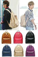 NEW KPOP HOT backpack Rivet schoolbag shoulder bag,exo luhan,bigbang,snsd,tvxq