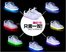 Cool Womens LED Lace Ups Sports Comfortable Flat Shoes Runways Walking Light Up