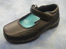 Black School Shoes for Girls/Velcro/size 8.5 Toddler to 6 Youth