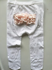 Girls Kid Baby Toddler White Lace bottom Ruffle Stockings Tights Leggings Opaque