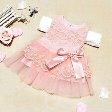 Brand New Hot Sale Cute Baby Kids Girls Princess Formal Lace Flower Dress