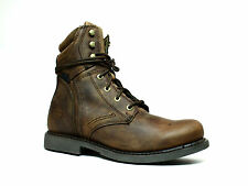 Harley Davidson DARNEL Mens Motorcycle Driving  Brown Leather Boots